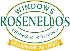 Logo for Rosenello's Windows, Siding and Roofing