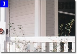 exterior of a home decorated with five inch vinyl corner boards
